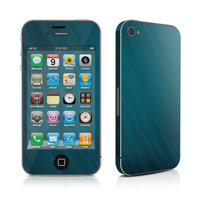 iPhone 4 Skin - Rhythmic Blue