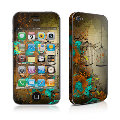 iPhone 4 Skin - Rusty Lace