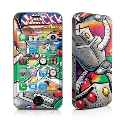 iPhone 4 Skin - Robot Beatdown