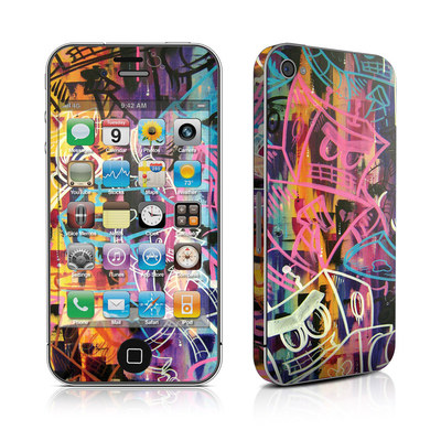 iPhone 4 Skin - Robot Roundup