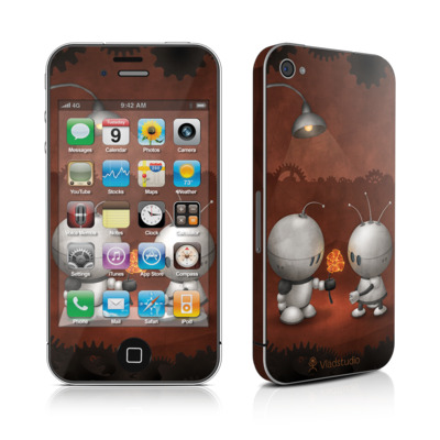 iPhone 4 Skin - Robots In Love