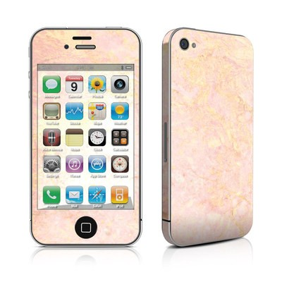 iPhone 4 Skin - Rose Gold Marble