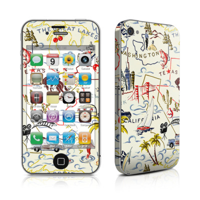 iPhone 4 Skin - Road Trip