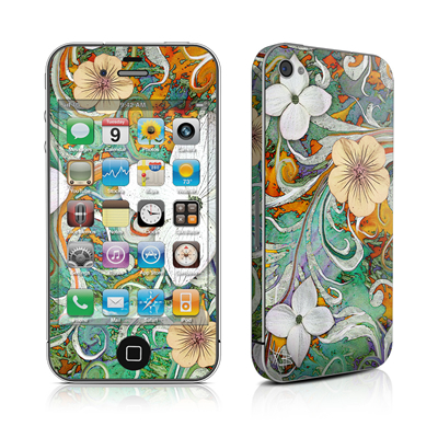 iPhone 4 Skin - Sangria Flora