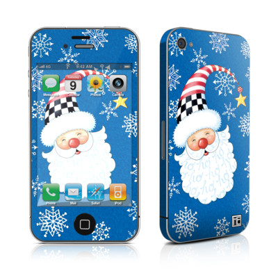 iPhone 4 Skin - Santa Snowflake