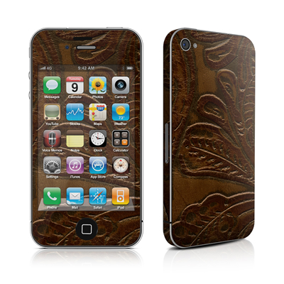 iPhone 4 Skin - Saddle leather