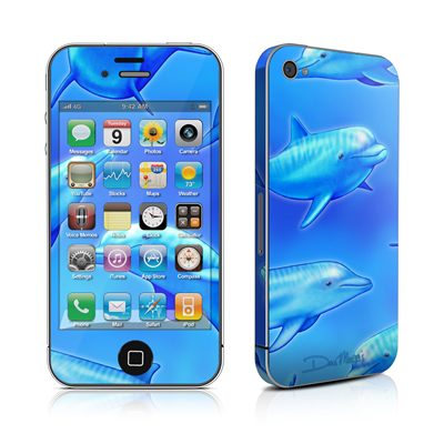 iPhone 4 Skin - Swimming Dolphins