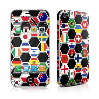 iPhone 4 Skin - Soccer Flags