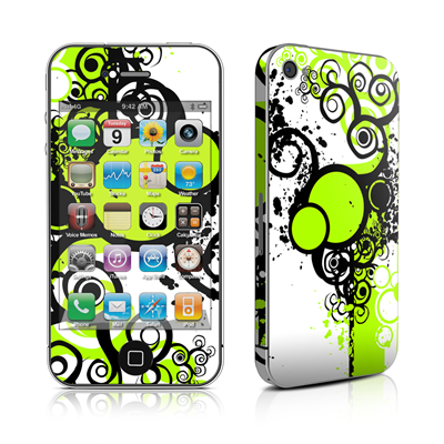 iPhone 4 Skin - Simply Green