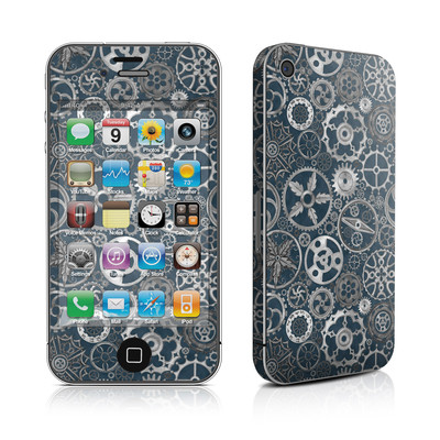 iPhone 4 Skin - Silver Gears