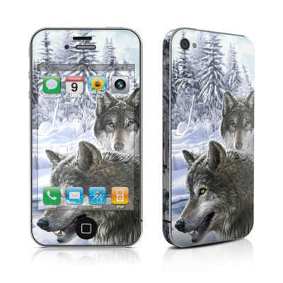 iPhone 4 Skin - Snow Wolves