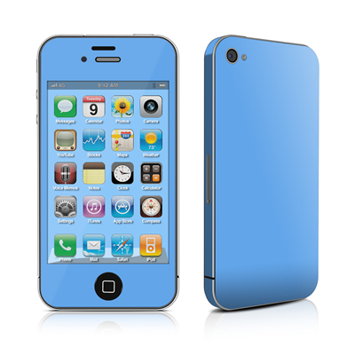 iPhone 4 Skin - Solid State Blue