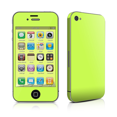 iPhone 4 Skin - Solid State Lime
