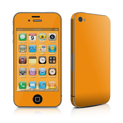 iPhone 4 Skin - Solid State Orange