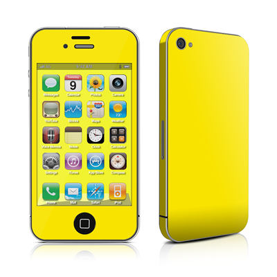 iPhone 4 Skin - Solid State Yellow