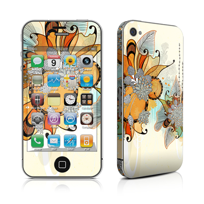 iPhone 4 Skin - Sunset Flowers