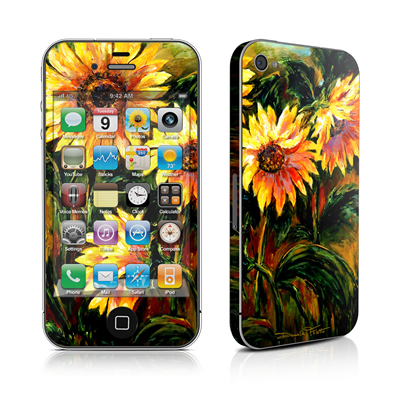 iPhone 4 Skin - Sunflower Sunshine