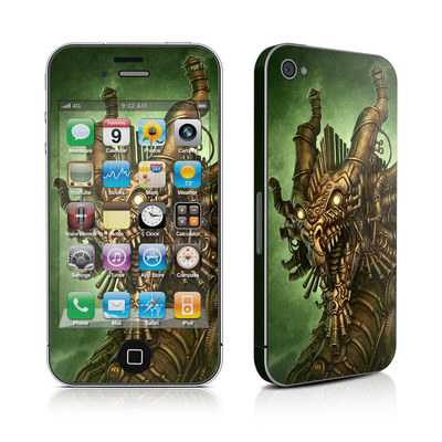 iPhone 4 Skin - Steampunk Dragon
