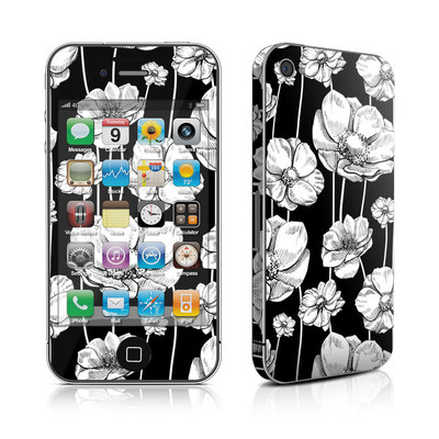 iPhone 4 Skin - Striped Blooms