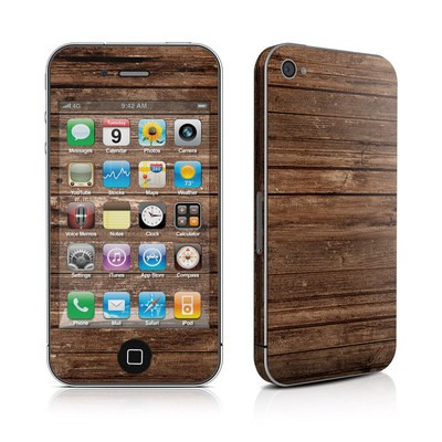 iPhone 4 Skin - Stripped Wood