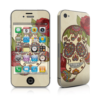 iPhone 4 Skin - Sugar Skull