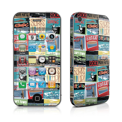 iPhone 4 Skin - Surf Sounds