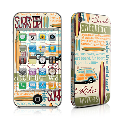 iPhone 4 Skin - Surf Words