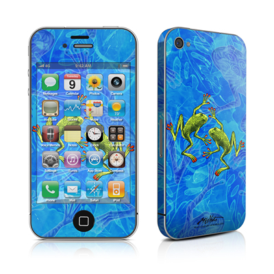 iPhone 4 Skin - Tiger Frogs