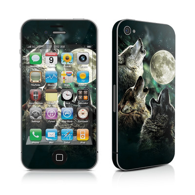 iPhone 4 Skin - Three Wolf Moon