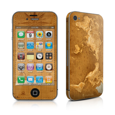 iPhone 4 Skin - Upside Down Map