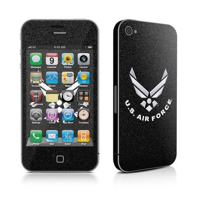 iPhone 4 Skin - USAF Black