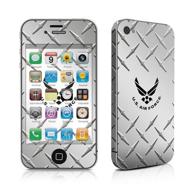 iPhone 4 Skin - USAF Diamond Plate