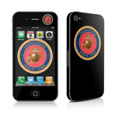 iPhone 4 Skin - USMC Black