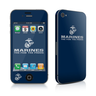 iPhone 4 Skin - USMC Blue