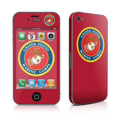 iPhone 4 Skin - USMC Red