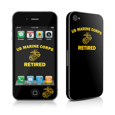 iPhone 4 Skin - USMC Retired
