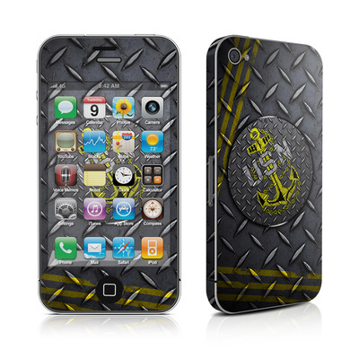 iPhone 4 Skin - USN Diamond Plate
