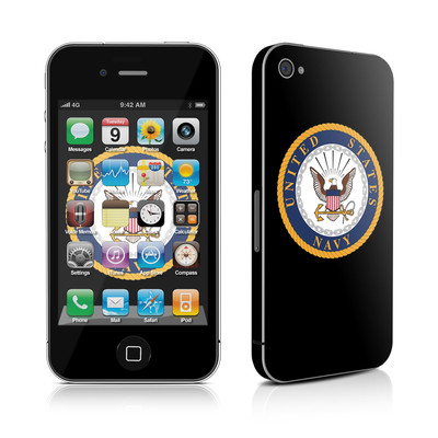 iPhone 4 Skin - USN Emblem