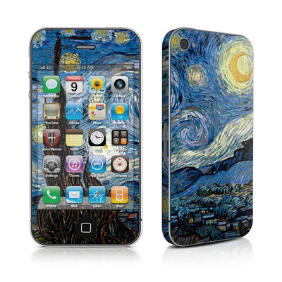 iPhone 4 Skin - Starry Night