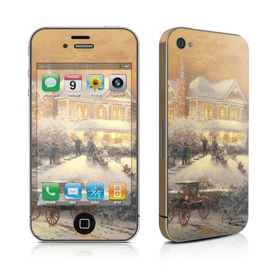 iPhone 4 Skin - Victorian Christmas