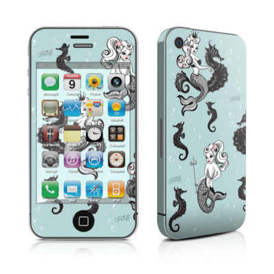 iPhone 4 Skin - Vintage Mermaid