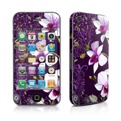 iPhone 4 Skin - Violet Worlds