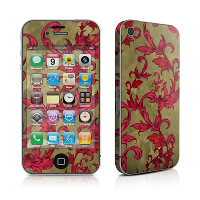 iPhone 4 Skin - Vintage Scarlet