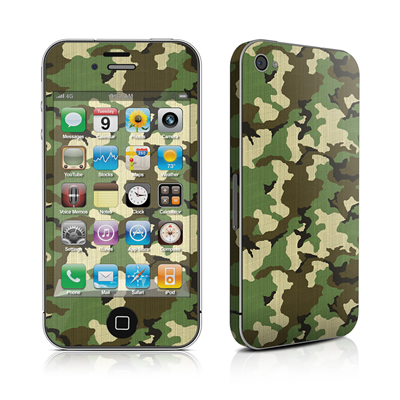 iPhone 4 Skin - Woodland Camo