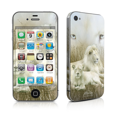 iPhone 4 Skin - White Lion