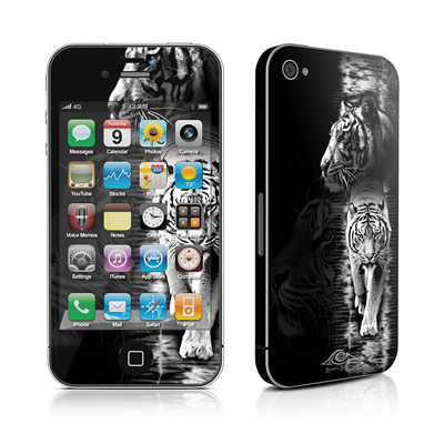 iPhone 4 Skin - White Tiger
