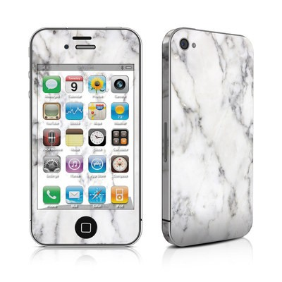 iPhone 4 Skin - White Marble
