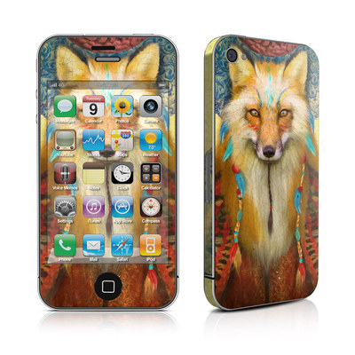 iPhone 4 Skin - Wise Fox