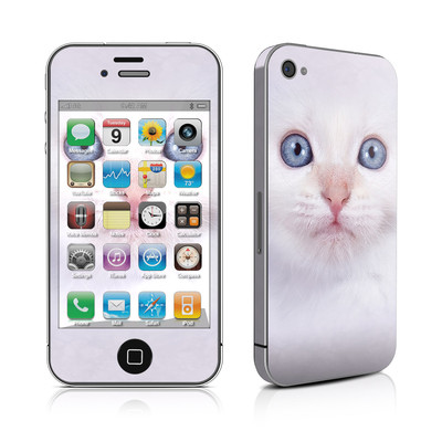 iPhone 4 Skin - White Kitty