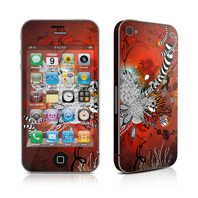 iPhone 4 Skin - Wild Lilly